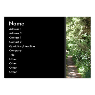 Dirt Track Through Trees Business Card