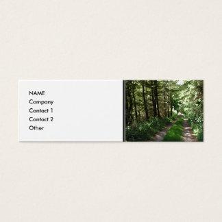 Dirt Track Through Trees. Mini Business Card