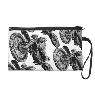 Dirtbike addict wristlet clutch
