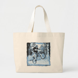 dirtbike azul que rueda en woods1 12x bolsas de mano
