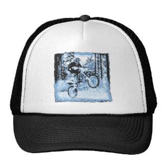 dirtbike azul que rueda en woods1 12x gorra
