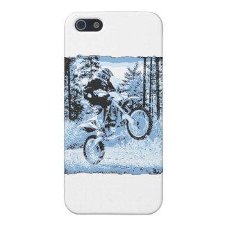 dirtbike azul que rueda en woods1 12x iPhone 5 fundas