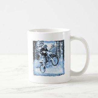 dirtbike azul que rueda en woods1 12x tazas