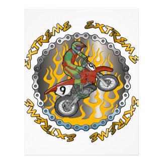 Dirtbike extremo plantilla de membrete