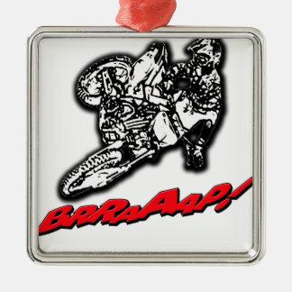 DirtbikeBrraaap.png Adorno Navideño Cuadrado De Metal