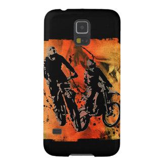 Dirtbiker Duo Red and Orange Grunge Galaxy S5 Case