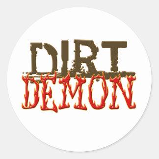 DirtDemon1 Classic Round Sticker