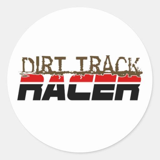 DirtRacer1 Classic Round Sticker