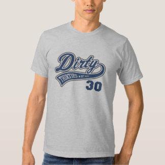 Dirty 30's Blue T Shirt