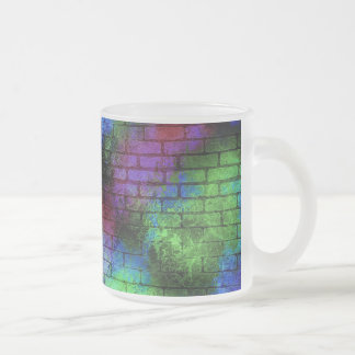 dirty-408147 ABSTRACT COLORFUL GRAFFITI RANDOM SPR Frosted Glass Coffee Mug