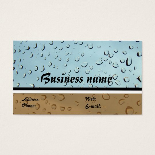 dirty and  clear Business card