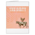 Dirty Animals, Brown Chicken Brown Cow Greeting Card