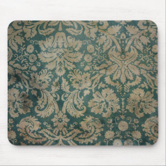 Dirty antique damask wallpaper mouse pad