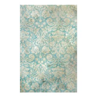 Dirty aqua vintage wallpaper stationery