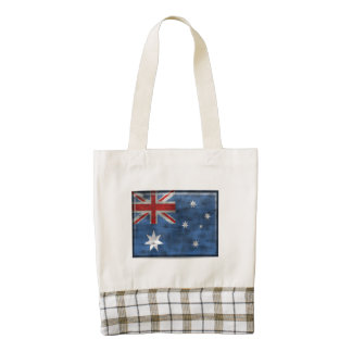 Dirty Australia Flag Zazzle HEART Tote Bag