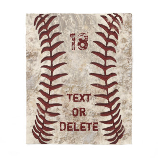 Dirty Baseball Blanket with YOUR NUMBER and NAME