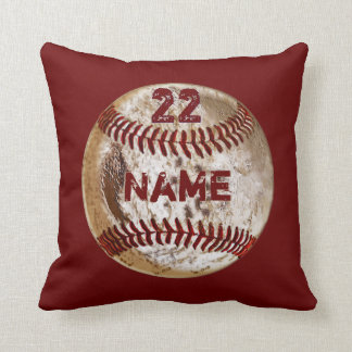 Dirty Baseball Pillow Your NAME, NUMBER, COLORS