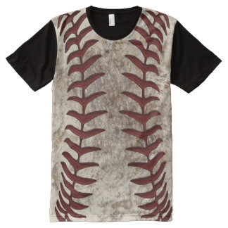Dirty Baseball Stitches Shirt All Over Print Front