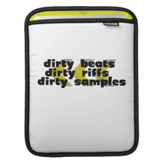 Dirty Beats black iPad Sleeve