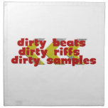 Dirty Beats red Napkin