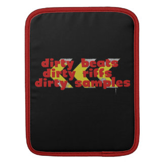 Dirty Beats red Sleeve For iPads