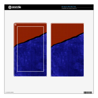 Dirty blue and orange rip kindle fire decals