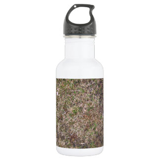 Dirty Brown Dry Grass Texture 18oz Water Bottle