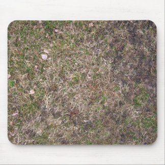 Dirty Brown Dry Grass Texture Mouse Pad