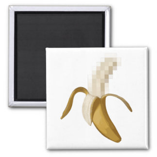 Dirty Censored Peeled Banana Magnet