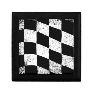 Dirty Chequered Flag Keepsake Box