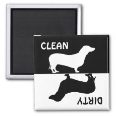 Dirty Clean Dachshund Dog Dishwasher Magnet at Zazzle