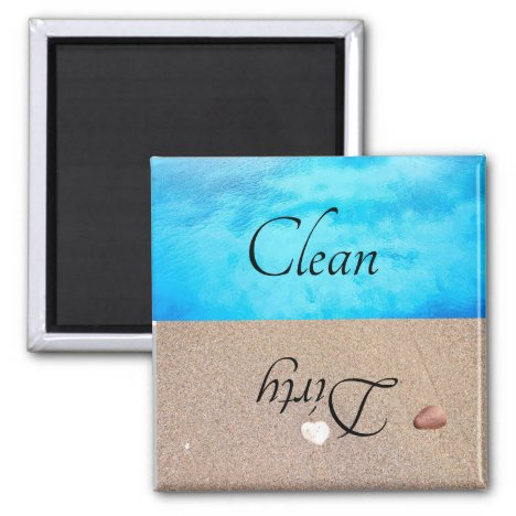 Dirty Clean Dishwasher Magnet Beach Water
