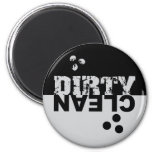 Dirty/Clean Dishwasher Magnet Black and Silver