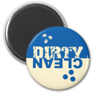 Dirty/Clean Dishwasher Magnet Blue and Cream