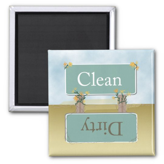 Dirty Clean Dishwasher Magnet by Heard_