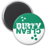 Dirty/Clean Dishwasher Magnet Green and White