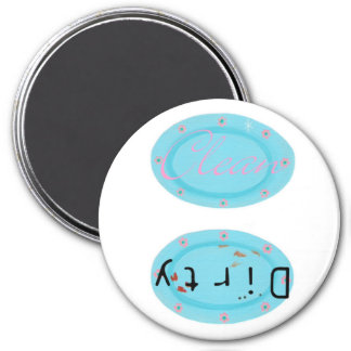 Dirty Clean Dishwasher magnets - blue platters