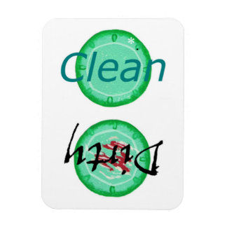 Dirty Clean Green Plates Dishwasher Magnets