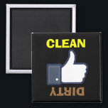 """Dirty Clean Thumbs Up / Down Dishwasher Magnets<br><div class=""""desc"""">dirty clean Thumbs up / Thumbs Down dishwasher magnet Use to indicate if dishwasher is full of clean dishes or dirty dishes. Change the background color and the text to your unique preference... </div>"""