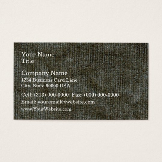 Dirty Corduroy Texture Business Card