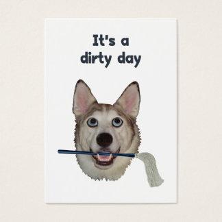 Dirty Day Dog Pee Humor Business Card