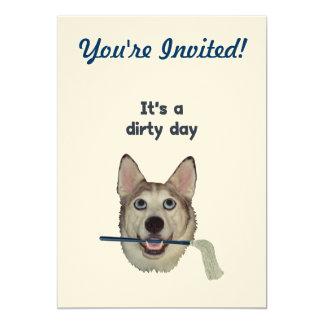 Dirty Day Dog Pee Humor Card