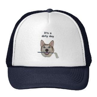 Dirty Day Dog Pee Humor Trucker Hat