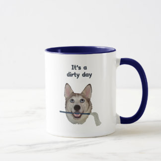 Dirty Day Dog Pee Humor Mug