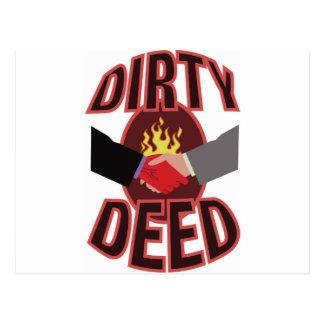 Dirty Deed Postcard