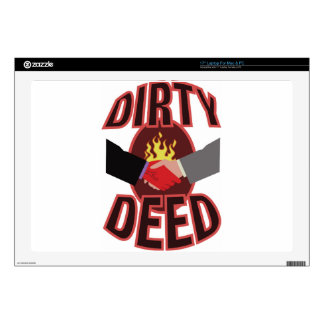 "Dirty Deed Decal For 17"" Laptop"