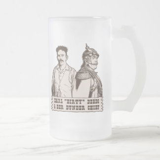 Dirty Deeds & Der Dunder Chief 16 Oz Frosted Glass Beer Mug