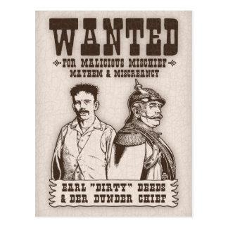 Dirty Deeds & Der Dunder Chief Postcard