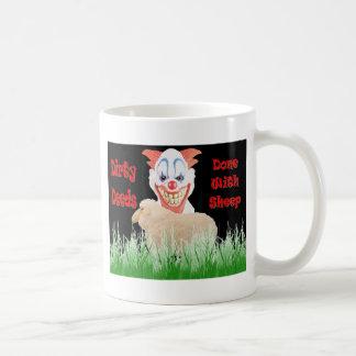 Dirty Deeds Done with Sheep Classic White Coffee Mug