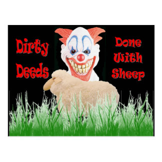 Dirty Deeds Done with Sheep Postcard